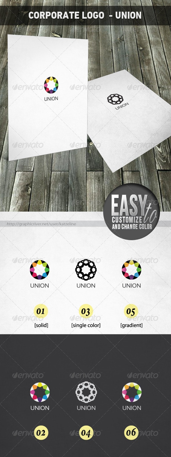 Corporate Logo Template - Union - Vector Abstract