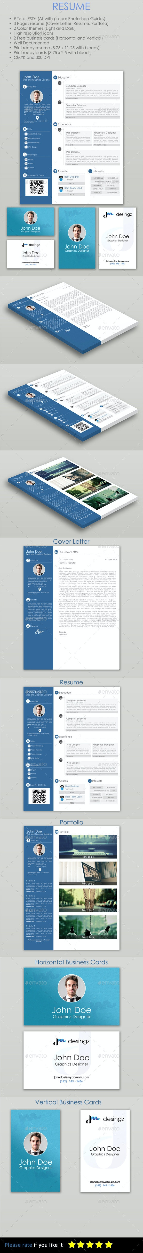 Resume - PSD Template - Resumes Stationery