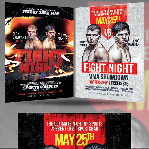 Fight Night Flyer Bundle
