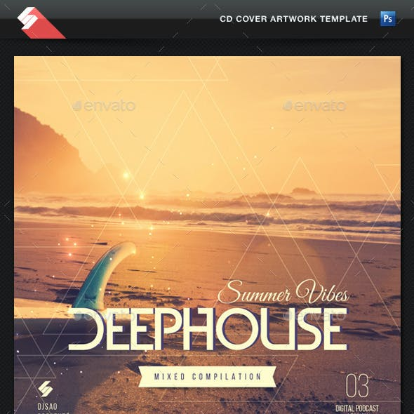 Summer Vibes 3 - House Music CD Cover Template