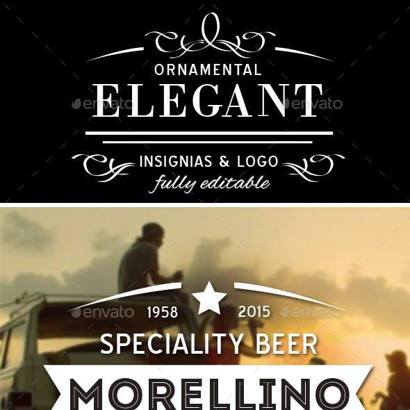 Elegant Ornamental Insignias & Logo