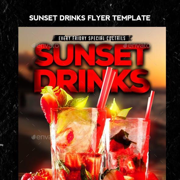 Sunset Drinks Flyer