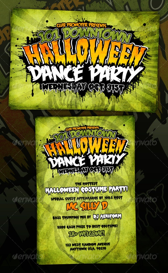 HORROR/HALLOWEEN/GRUNGY Graphic Flyer - Clubs & Parties Events