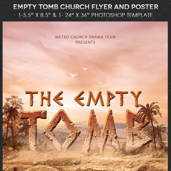 Empty Tomb Church Flyer Poster Template