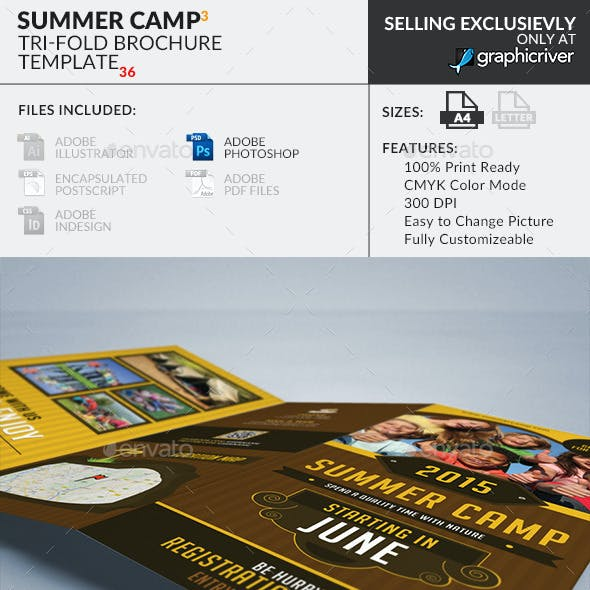 Summer Camp Trifold Brochure 3