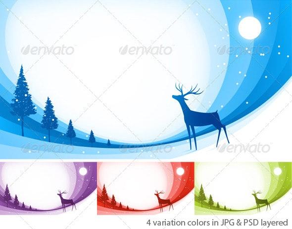 Snow Reindeer - Backgrounds Graphics