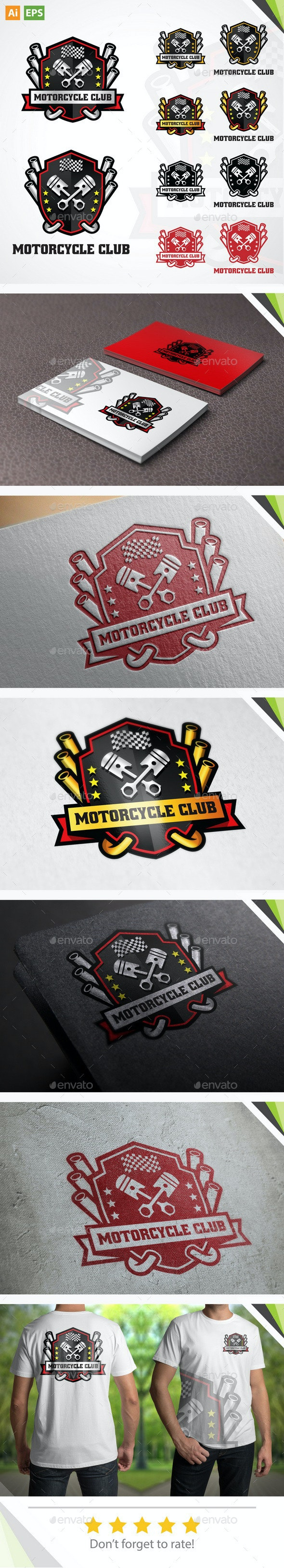Motorcycle Club Logo - Crests Logo Templates