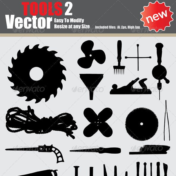Vector Tools Silhouette Set