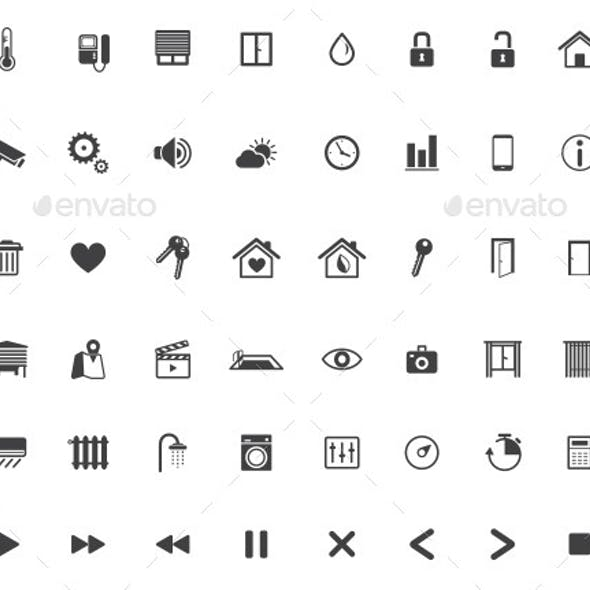 Home Automation, Smart Home Icon Set, Vector