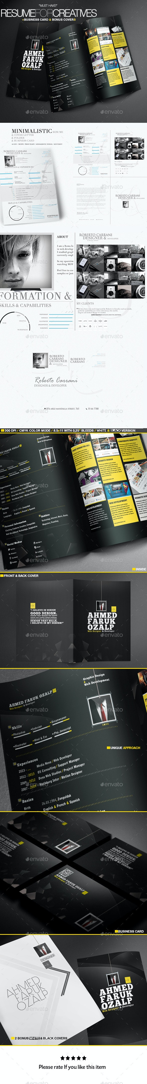 A Great Deal Creative Resume Templates 2in1 - Resumes Stationery