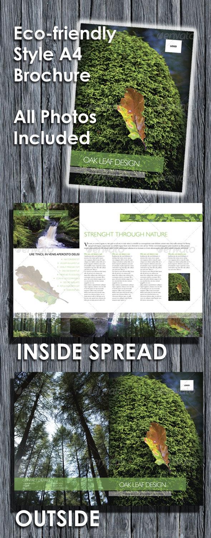 Eco-friendly A4 Brochure - Corporate Brochures