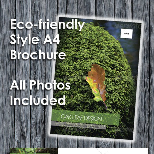 Eco-friendly A4 Brochure