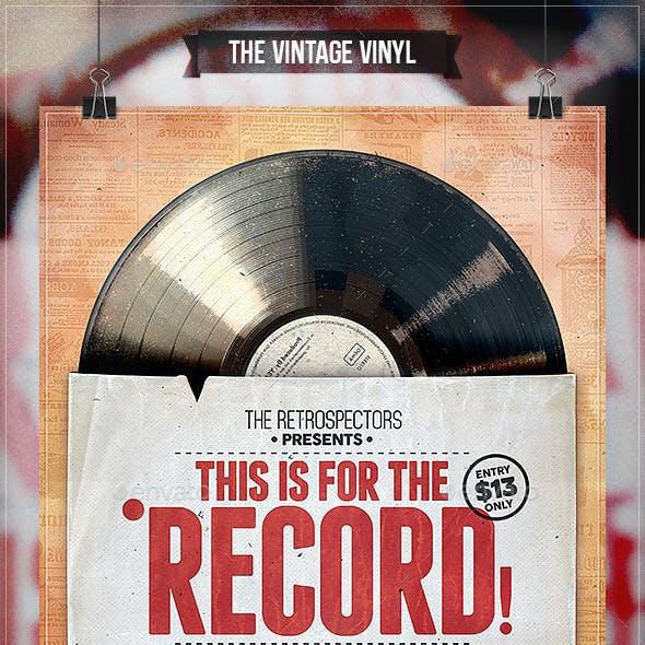 Vintage Vinyl - Flyer & Poster