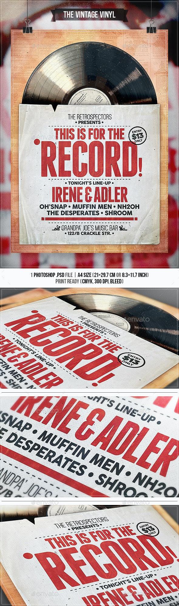 Vintage Vinyl - Flyer & Poster - Concerts Events