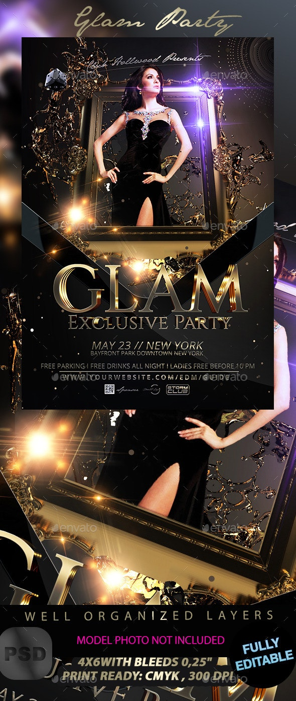 Glam Party - Events Flyers
