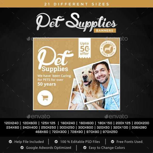Pet Suppy Banners
