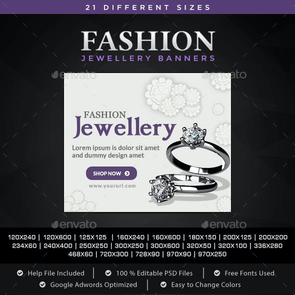 Fashion Jewellery Banners