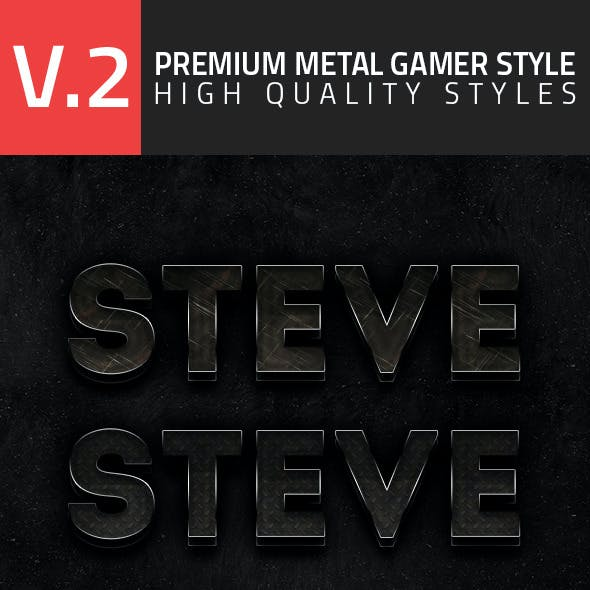 Premium Metal Gamer Style V2