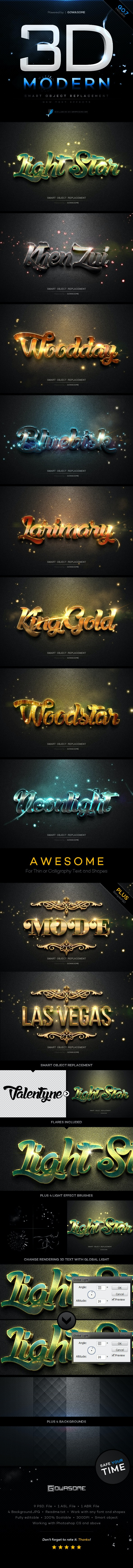 Modern 3D Text Effects GO.7 - Text Effects Styles