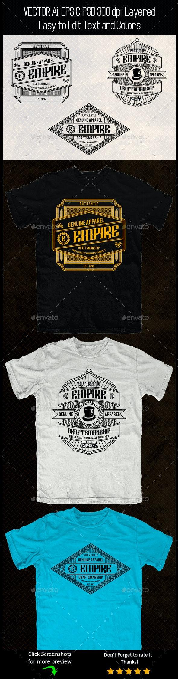 Vintage T-shirt Template - Designs T-Shirts
