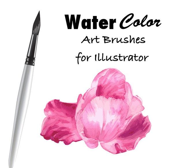 Watercolor Vector Art Brushes  - Artistic Brushes