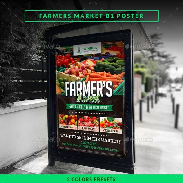 Farmer's Market Commerce B1 Poster