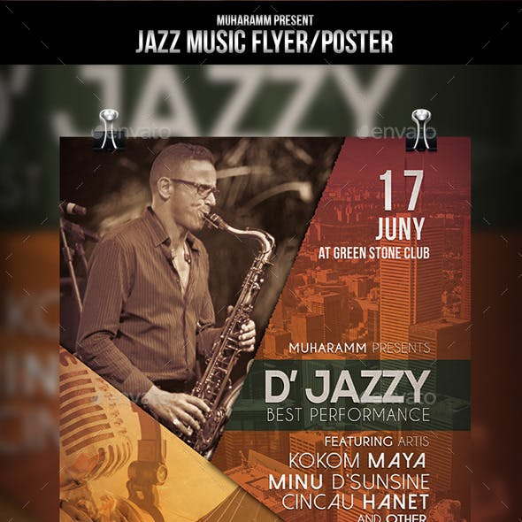Jazz Music Flyer / Poster