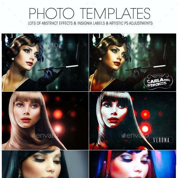 A Great Bundle! Creative Photo Templates 5in1