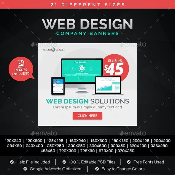 Web Design Company Banners