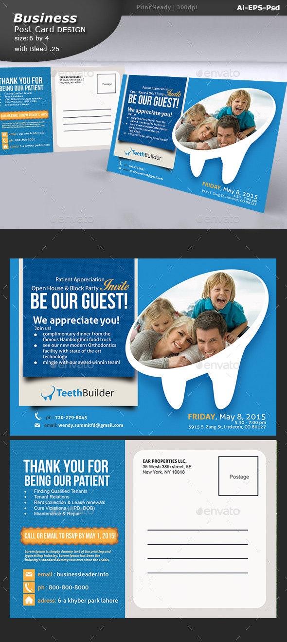 Dentist Post card Design  - Brochures Print Templates