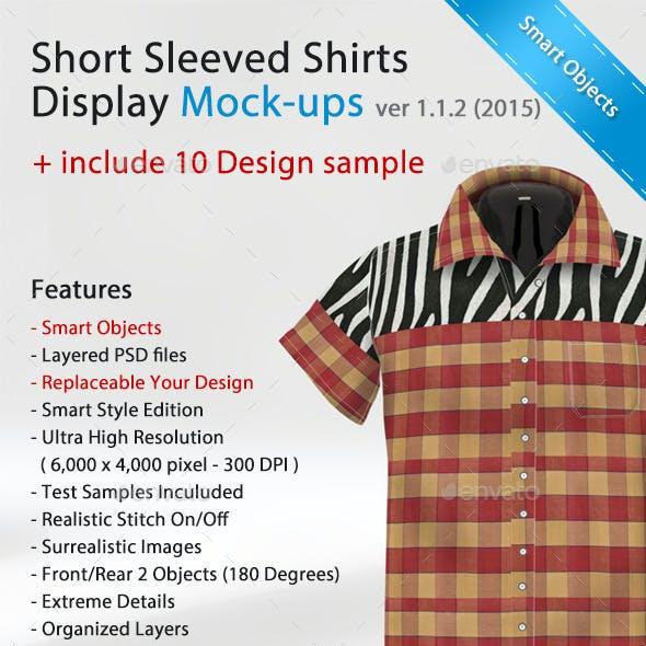 Short Sleeved Shirts Display Mock-ups