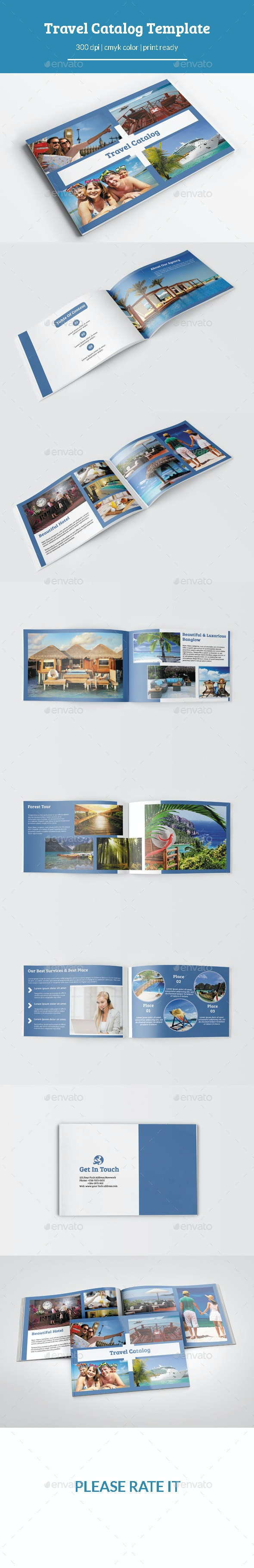 Travel Catalog/Brochure Template - Catalogs Brochures