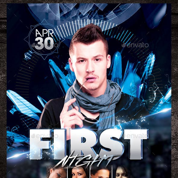 First Night Flyer Template