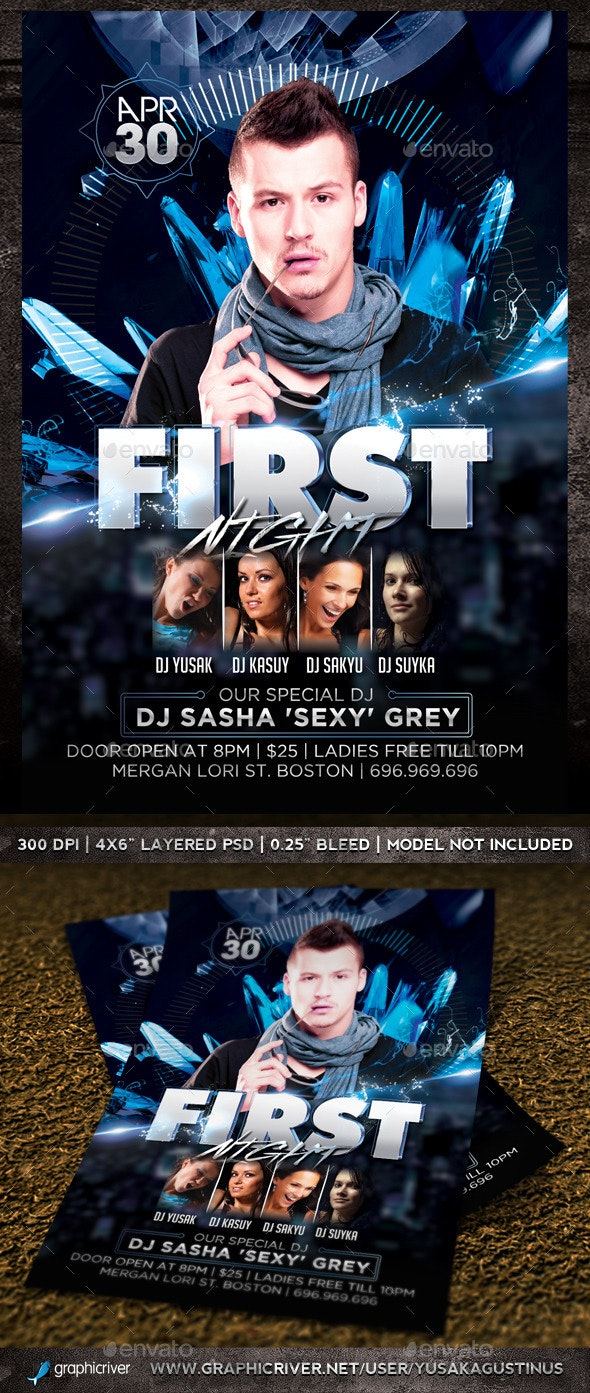 First Night Flyer Template - Clubs & Parties Events