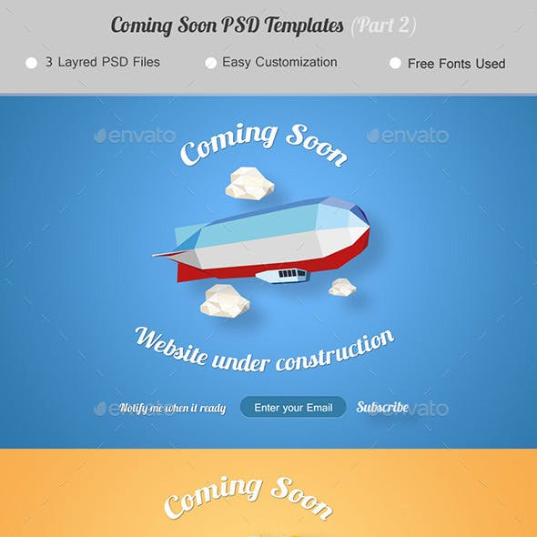 Coming Soon. Under Construction Page. (Part 2)
