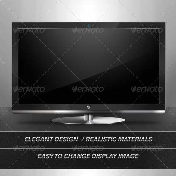 Flat Panel / Plasma TV with Metallic Stand