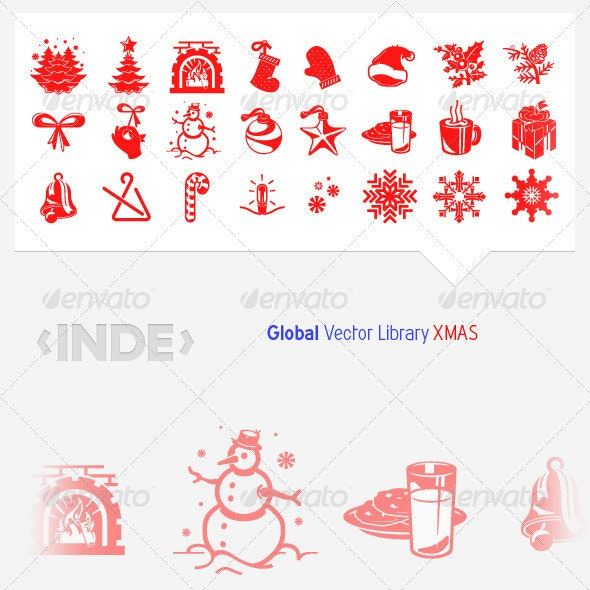 Christmas - XMAS Stock Vectors. - Christmas Seasons/Holidays