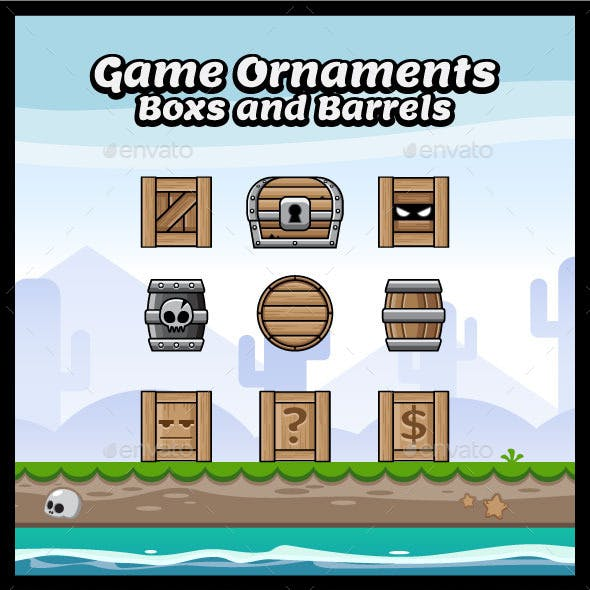 Boxes and Barrels for Game Ornaments