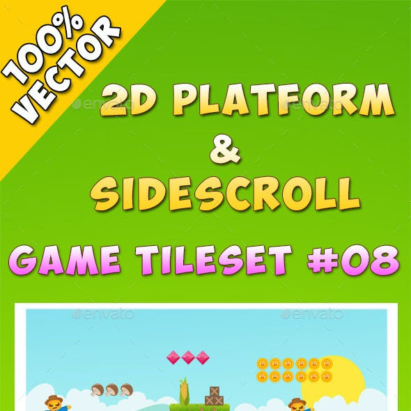 2D Platform & Sidescroll Tileset #8