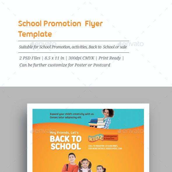 School Promotion Flyer Templates