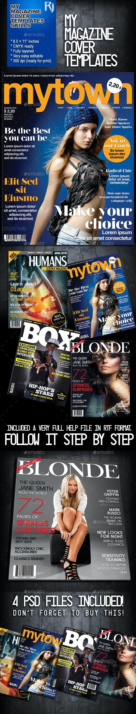 My Magazine Cover Templates - Magazines Print Templates