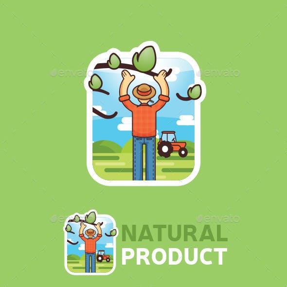Natural Product Logo Badge