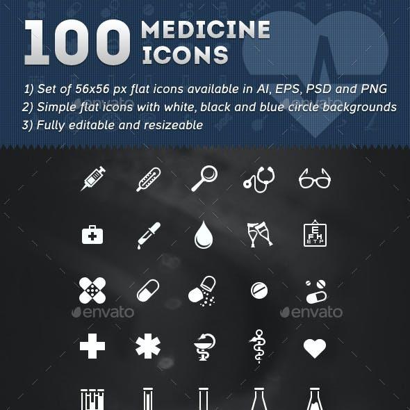100 Medicine Icons