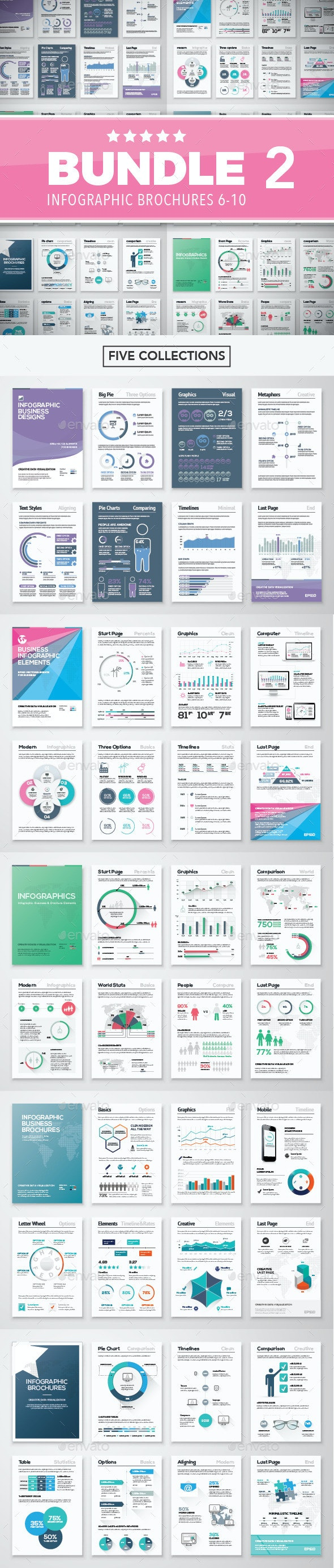 Infographic Brochure Elements Bundle 2 - Infographics