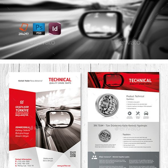 Technical Data Product Flyer Templates