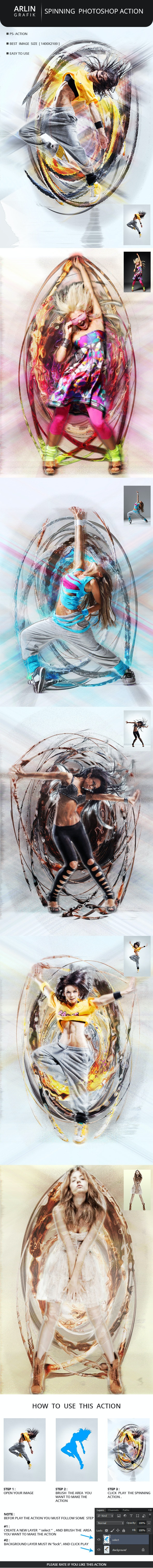 Spinning Action - Photo Effects Actions