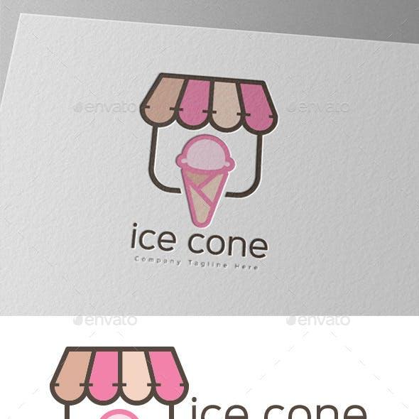 Ice Cream Cone Gelato Logo