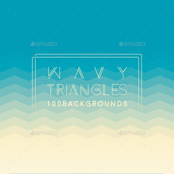 100 Wavy Triangles Backgrounds