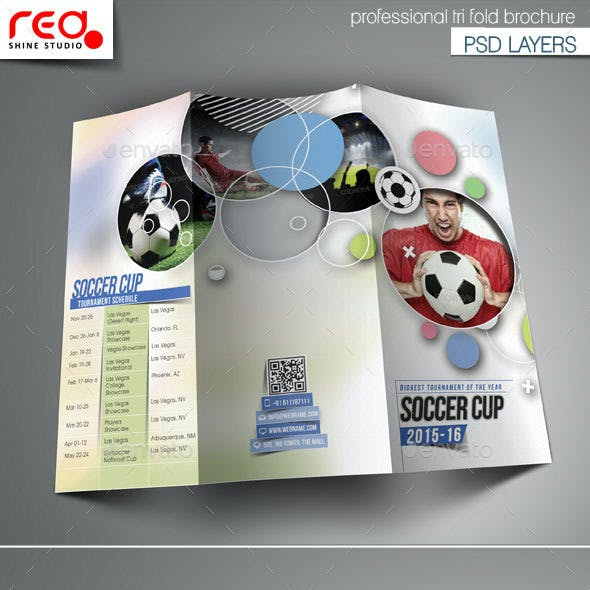Sport Multipurpose Trifold Brochure Template
