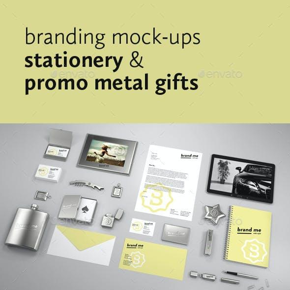 Branding Mock-ups Stationery & Promo Metal Gifts